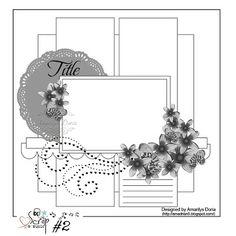 Scrap & Music: Sketch #2 - La Vie en Rose