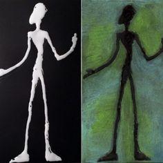 Giacometti Glue Drawing