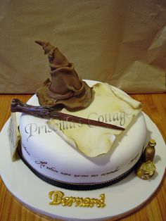 Harry Potter Wizard Theme Cake   by Lisa's Cake Creations