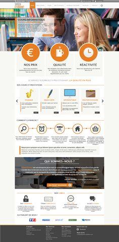 Speed-Etudiant.com - Design - UI ©Romain DAO 2013