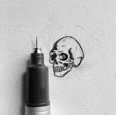 Simple Skull drawing draw art tattoo