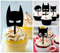 Ca456 New Arrival 10 pcs/ Decorations Cupcake Topper / Batman / Robin / Catwoman / Wedding / Props / Party / Vintage / Fun / Shop / Birthday by Sixday7Day on Etsy https://www.etsy.com/listing/251523010/ca456-new-arrival-10-pcs-decorations