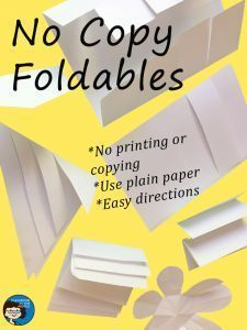 Easy foldables with no printing or copying