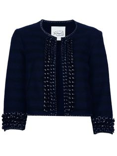 Black wool racket De'Hart, chain trims