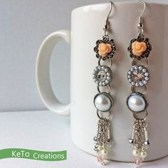 $13.99 Peach and Pink Blossoms Trunk in the Attack by KeToCreationsOnEtsy