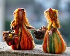 Aguja de fieltro muñeca Waldorf lana por darialvovsky en Etsy