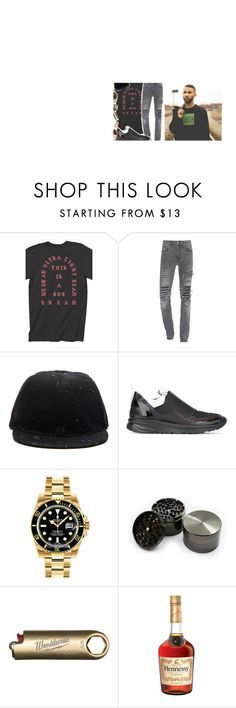 """""""..."""" by harveysantiago ❤ liked on Polyvore featuring Givenchy, Maison Margiela, Rolex, HUF, men's fashion and menswear"""