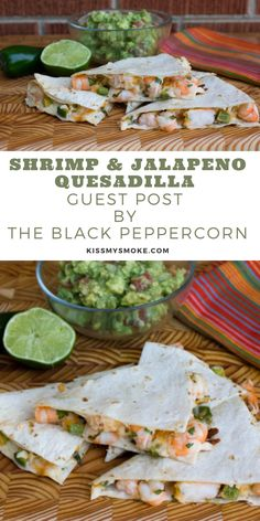 How to Make the best Shrimp and Jalapeno Quesadilla recipe on the grill. This easy dinner recipe is loaded with shrimp and cheese. #shrimp #jalapeno #quesadilla #appetizer #dinner #lunch Cod Recipes, Salmon Recipes, Lunch Recipes, Seafood Recipes, Easy Dinner Recipes, Appetizer Recipes, Appetizer Dinner, Dinner Ideas, Easy Meal Prep