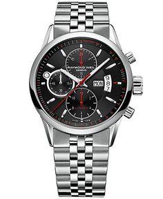 RAYMOND WEIL Watch, Men's Swiss Automatic Freelancer Stainless Steel Bracelet 42mm 7730-ST-20041 - RAYMOND WEIL