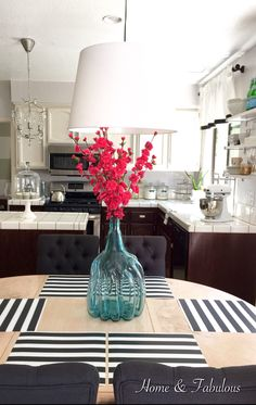 "Make your kitchen more ""summery"" by adding this vase and flowers (available now) from @homegoods  (sponsored pin)"