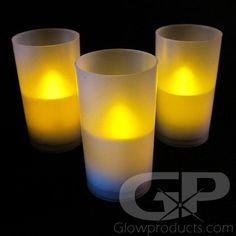 LED Flameless Candles with Votive Jar - Bright flickering LED light replicates a real flame! - Batteries Included and Already Installed! Bulk Candles, Flameless Candles, Tea Light Candles, Bucket Centerpiece, Lighted Centerpieces, Classic Candles, Led Tea Lights, Glow Sticks, Reception Food