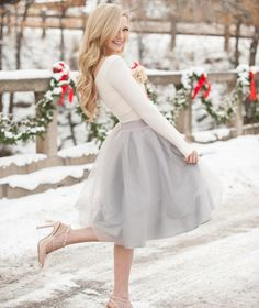 The Ashley skirt is a hand pleated tulle skirt with a pretty, streamlined silhouette and has proven to be one of our customer favorites -- Perfect for any occas