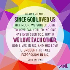 ENCOURAGING WORD via @kloveradio@air1radio  VERSE OF THE DAY via @youversion  Beloved if God so loved us we also ought to love one another. No one has seen God at any time. If we love one another God abides in us and His love has been perfected in us. I John 4:11-12 NKJV  http://ift.tt/1H6hyQe  Facebook/smpsocialmediamarketing  Twitter @smpsocialmedia  #Bible #Hope #Faith #goodmorning #morning #inspiration #inspirationalquote #motivation #motivationalquote #qotd #quoteoftheday #instagood…