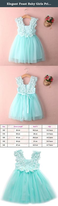 Elegant Feast Baby Girls Princess Lace Flower Tulle Tutu Gown Formal Party Dress (2-3 Years, Blue). New in Fashion. Material: Lace Tulle. Dress Length:Knee-Length. Style: Foraml, Party. Package included: 1x Dress.