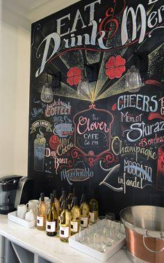 Chalkboard art -- Habitat for Humanity show