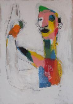 https://flic.kr/p/eB1Utu | camicia colorata | 70x100 cm pastelli a olio su cartoncino. 2 giu 2013