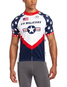 Primal Wear Mens US Military Team Cycling Jersey Red White Blue XLarge * Want additional info? Click on the image.