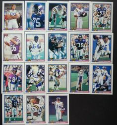 1991 Bowman Minnesota Vikings Team Set of 18 Football Cards Chris Doleman, Rich Gannon, Football Cards, Baseball Cards, Minnesota Vikings Football, Nfl, Soccer Cards