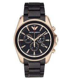 EMPORIO ARMANI Ar6066 Gold-Plated Stainless Steel Watch. #emporioarmani #mens fashion watches