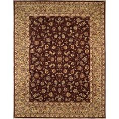 Handmade Rectangular Persian Sultanabad Area Rug in Purple with Green Accents, 3x5 area rug