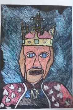 Karel IV. v modrém pozadí | Malujeme po síti