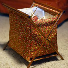 Free Sew Pattern :: Vintage Project Basket-would definately choose different material...