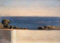 Guillaume Bodinier. Vue de la côte près de Capri, 1824