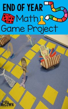 End of Year Math Game Project for Grades 5, 6, 7, and 8. Engage your students in making math games. No prep for teacher, print & go instructions, rubrics, all included! Math engagement and end of year fun for all students!