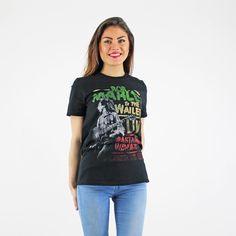Bob Marley And The Wailers Live Rastaman Printed Black Band T Shirt Festival Trends, The Wailers, Bob Marley, Summer Looks, Rock, Band, Printed, Tees, T Shirt
