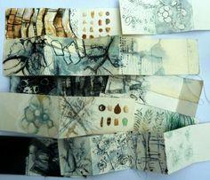 Shelley Rhodes Textile Sketchbook Journals School of Stitched Textiles Textiles Sketchbook, Artist Sketchbook, Sketchbook Pages, Accordian Book, Concertina Book, Natural Form Art, Sketchbook Inspiration, Journal Inspiration, Textile Artists
