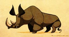Rhino by sketchinthoughts on DeviantArt