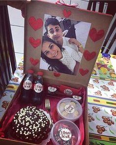Festa na caixa que nossa Seguidora fez para o seu namorado de 3 anos de namoro @mary_any2014