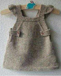 Summer Into Fall pinafore dress – knitting pattern – Knitting Patterns at Makeri… – Baby knitting patterns Baby Knitting Patterns, Crochet Patterns, Fall Knitting, Knitting For Kids, Knitting Projects, Knitting Tutorials, Crochet Baby, Knit Crochet, Knitted Baby