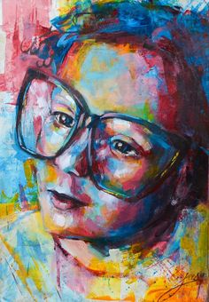 Portrait, Original Paintings, Vibrant, Artist, Color, Headshot Photography, Artists, Colour, Portrait Paintings