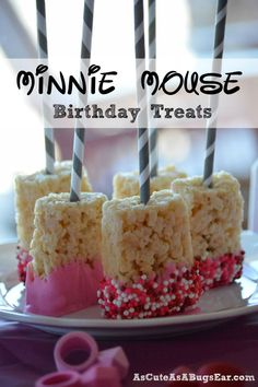 Sweet Pink Treats: Party Favorites | As Cute as a Bug's Ear| Minnie Mouse|Birthday| Treats|