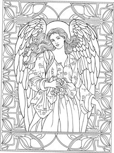 Beautiful Angel coloring page Adult ColouringFairiesAngels