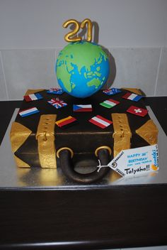 Around the World cake for my sisters 21st