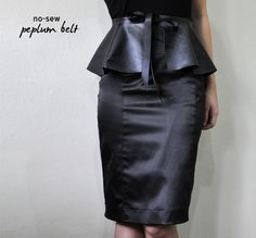 leather peplum belt tutorial no-sew quick and easy