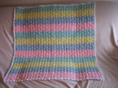 Shells and Stripes Baby Afghan - free crochet pattern