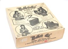 Mother's Aid Diaper and Utility Bag Cardboard Box by tenpennygray