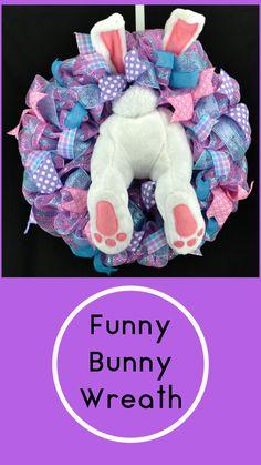 Easter Bunny wreath - Bunny butt wreath - Easter wreath - Easter decorations - Easter decor - Easter Bunny - Bunny wreath - bunny decor #Ad