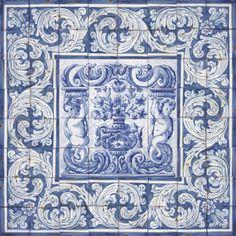 Portuguese-Traditional-Clay-Tiles-Azulejos-Mural-Panel-FLOWER-VASES-ALBARRADA