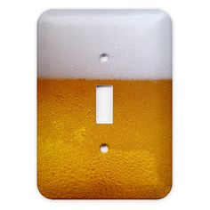 A beer switch plate. If only I lived in a frat house.