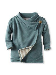 neve/hawk Kid's Crosstown Side Button Slouch Jacket (Teal)