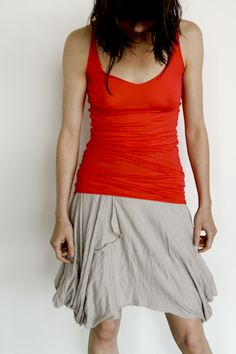 WOOL JERSEY SKIRT WITH LOOP