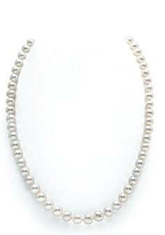 7-8mm White Freshwater Round Cultured Pearl Necklace, 18 ...  Free next day shipping from Amazon Fullfilled Center. ^________^ https://www.pinterest.com/whalesloveyou/