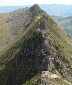 Striding Edge from Helvellyn, Lake District Cumbria England