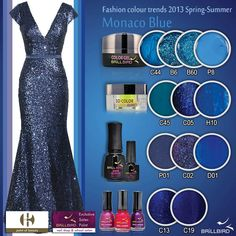 Monaco Blue Nail Shop, Prom Dresses, Formal Dresses, Fashion Colours, Beauty Nails, Color Trends, Swatch, Spring Summer, Gel Polish