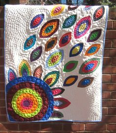 In Bloom White Applique Quilt Portion PippaPatchwork on Etsy, $285.00