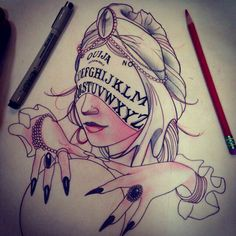 Ouija board/fortune teller tattoo idea